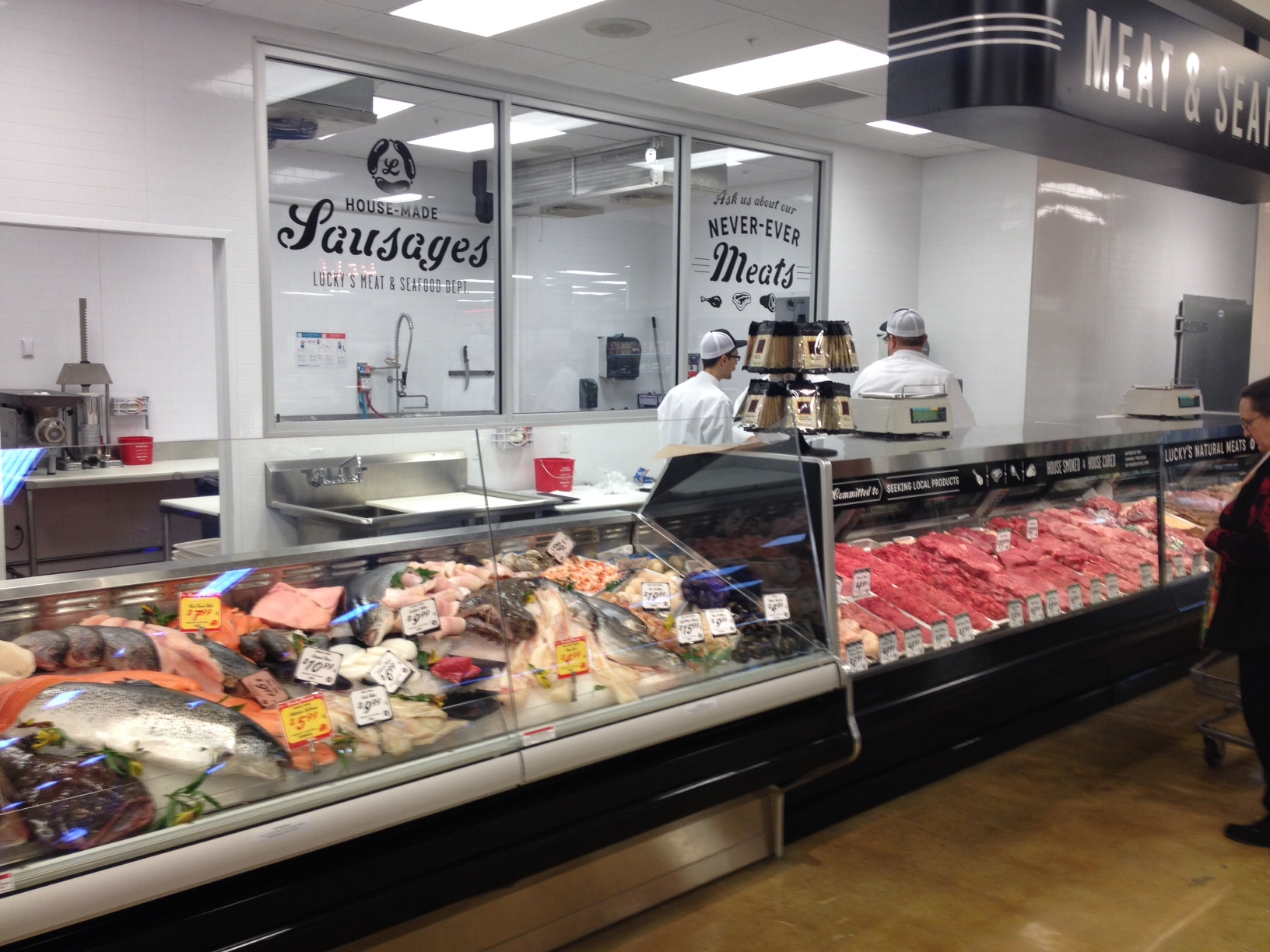Lucky s market opens show me eats for Fresh fish store near me